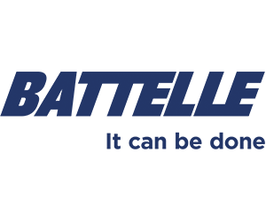 """blue Battelle logo with phrase """"it can be done"""""""
