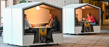 Image of SOFIC attendees networking in bunkers