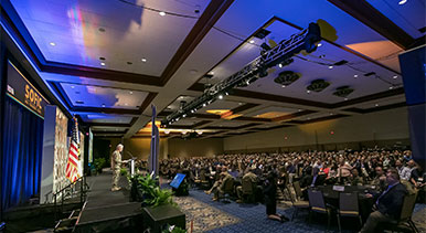 2018 SOFIC general session speaker with audience