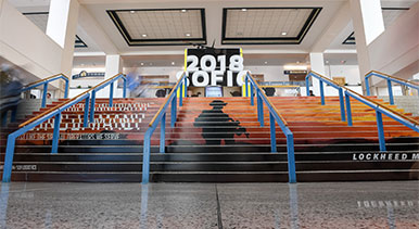 2018 SOFIC advertisement on steps